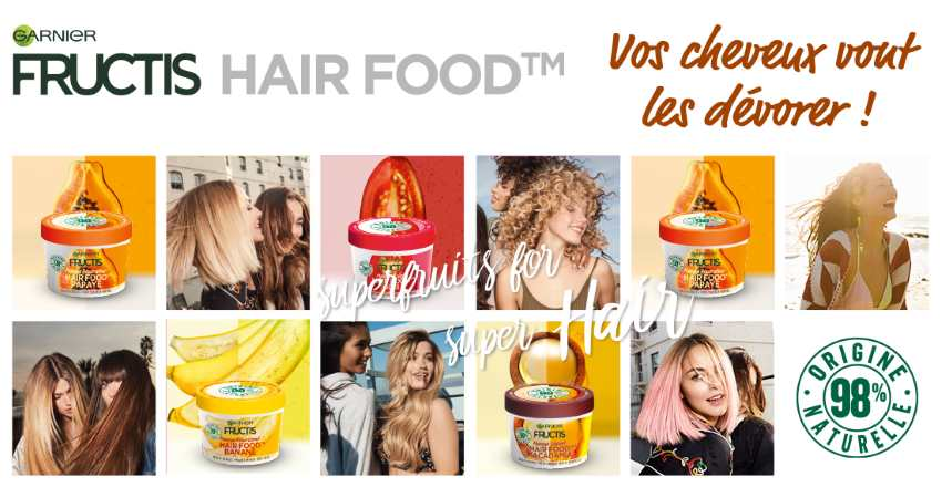 1 000 masques Garnier Fructis Hair Food en test gratuit sur The Insiders