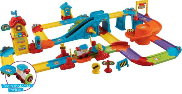 Train interactif Vtech Mon Circuit + Romain, le p'tit Train Tchou Tchou Bolides à 29,90 € sur Auchan