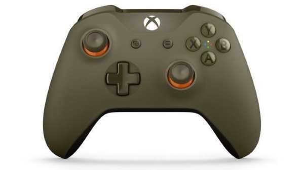 La manette Xbox One sans fil verte et orange à 34,99 € sur Cdiscount