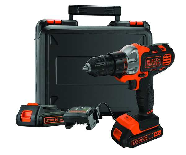 Perceuse Black + Decker sans fil multi-outil avec 2 batteries à 58,09 € sur Amazon