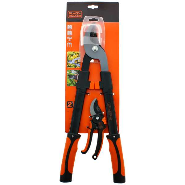 Set de 2 sécateurs Black & Decker à 8,56 € chez Action