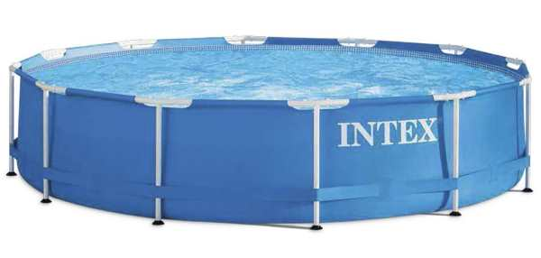 Piscine tubulaire ronde INTEX bleue 366 x 366 x 76 cm à 69,99 € sur Amazon