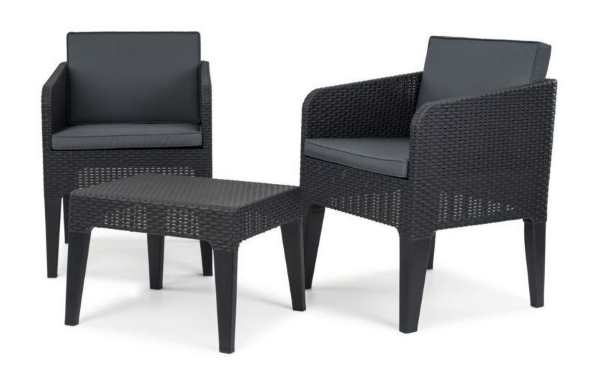 rue du commerce salon de jardin keter columbia 2 places 74 99. Black Bedroom Furniture Sets. Home Design Ideas