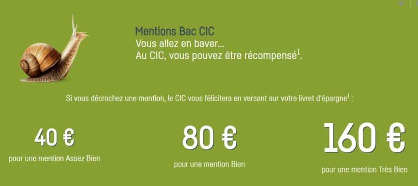 cic mention bac 2019 prime offerte