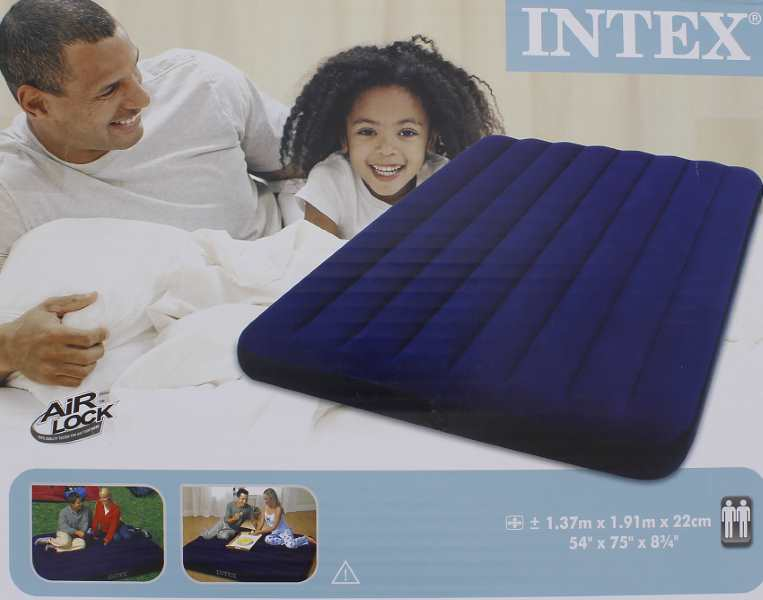 action matelas intex pneumatique 2 personnes 9 67. Black Bedroom Furniture Sets. Home Design Ideas
