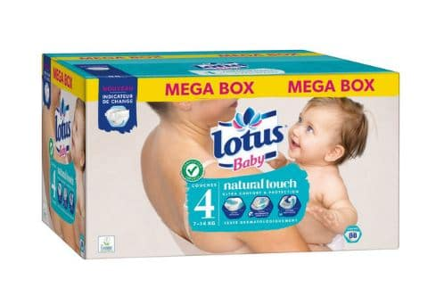 Pack couches Baby Touch Lotus à -70% chez Carrefour