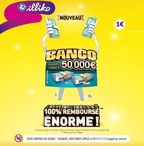 Ticket illiko Banco FDJ 100 % remboursé par Shopmium