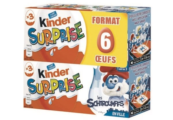Lot de 6 œufs Kinder Surprise à 3,15 € chez Carrefour Market