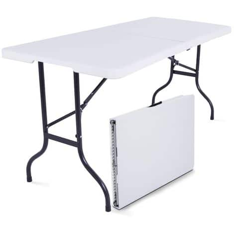 Leclerc : table pliante (largeur 180 cm) à 27,90 €