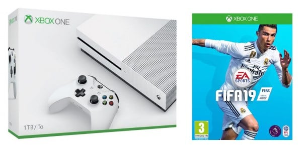 Pack Xbox One S + 2 manettes + Fifa 2019 à 299,95 € chez Carrefour