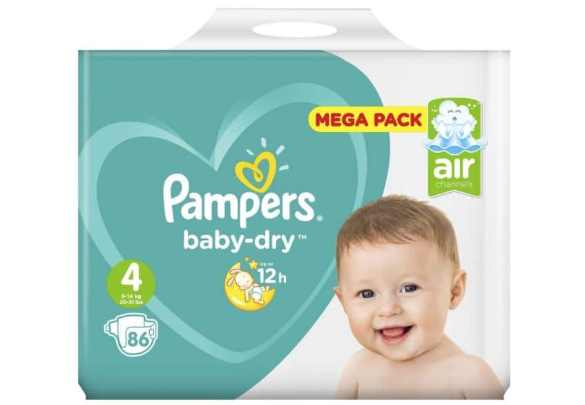 Couches Baby Dry Pampers à Intermarché en promo à -70%