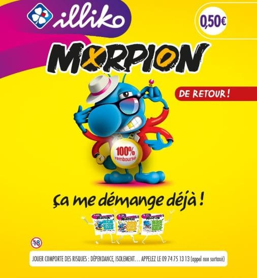 Ticket illiko Morpion FDJ 100% remboursé par Shopmium