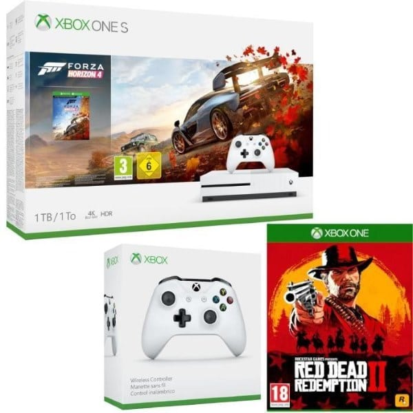 Xbox One S 1 To Forza + 2e manette + Red Dead Redemption 2 à 260,09 € sur Cdiscount