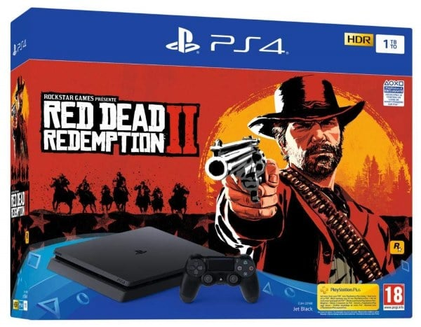 Pack PS4 Slim 1 To + Red Dead Redemption à 299,99 € sur Amazon pour le Black Friday
