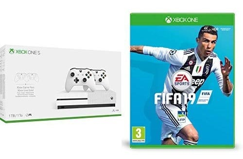 Console Xbox One S 1 To + 2 manettes + Fifa 19 + code Gears of War 4 + 3 mois de Game Pass à 229 € sur Amazon pour le Black Friday