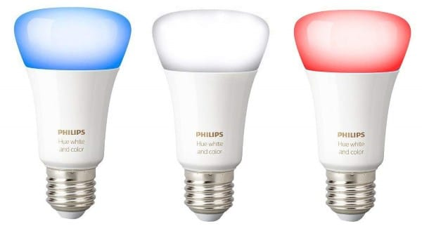 Lot de 3 ampoules connectées Philips Hue White and Color E27 à 84,99 € sur Amazon