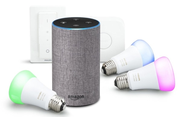 amazon enceinte amazon echo kit de d marrage philips. Black Bedroom Furniture Sets. Home Design Ideas