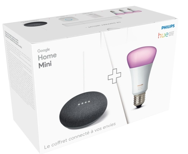 Pack de démarrage Philips Hue + Google Home Mini à 149,99 € sur Boulanger