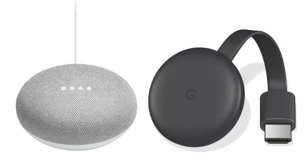Assistant vocal Google Home Mini + Chromecast Video à 74,90 € sur Boulanger