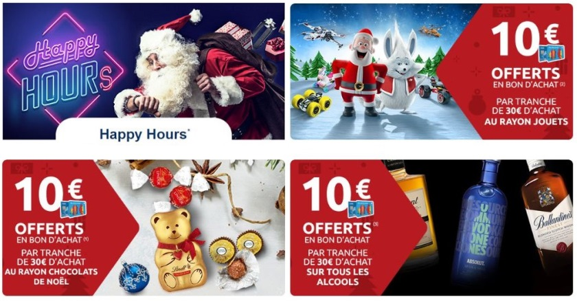 Happy Hours Carrefour Noel 2018