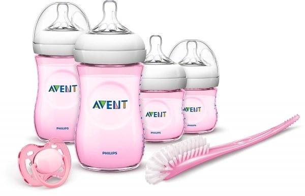 Kit de 4 biberons roses + 1 sucette Philips Avent à 19,90 € chez Amazon