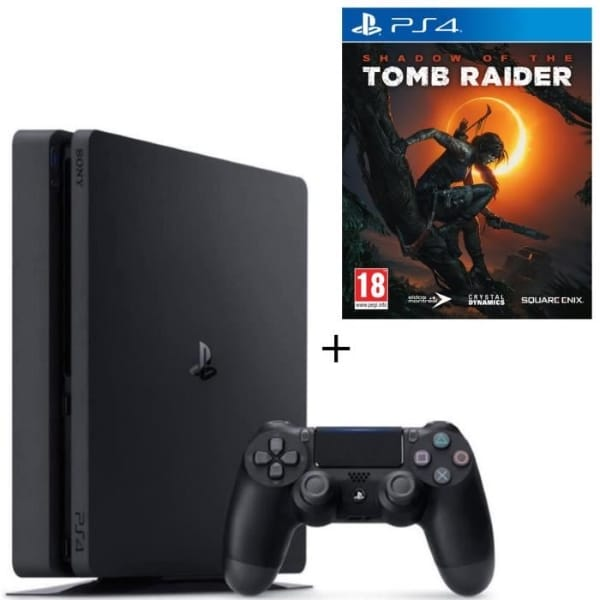 PS4 500 Go noire + Shadow of the Tomb Raider à 224,99 € sur Cdiscount