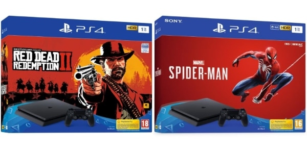 Pack PS4 1 To + 1 jeu (Red Dead Redemption II ou Marvel's Spider-Man) à 249,99 € sur Cdiscount