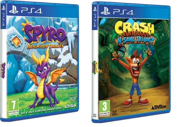 Spyro Reignited Trilogy + Crash Bandicoot N Sane Trilogy à 44,90 € chez Leclerc