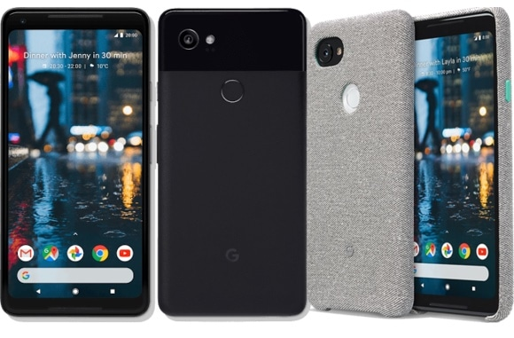 Google Pixel 2 XL + cover tissue à 399 € sur Rue du Commerce