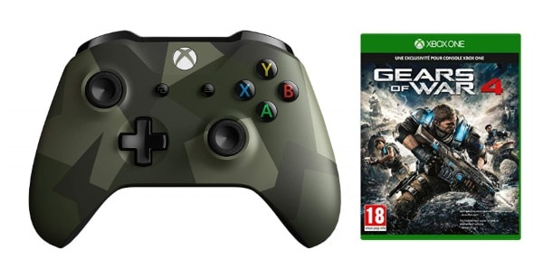 Manette Xbox One sans fil + Gears of War 4 à 33,90 € sur Amazon