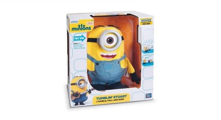 peluche acrobatique minion