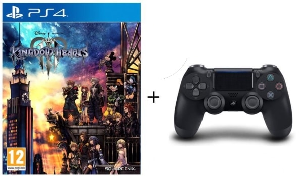 Pack Kingdom Hearts 3 + manette PS4 DualShock 4 V2 à 79,99 € sur Cdiscount