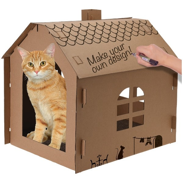 action maison en carton pour chats pas ch re 2 99. Black Bedroom Furniture Sets. Home Design Ideas