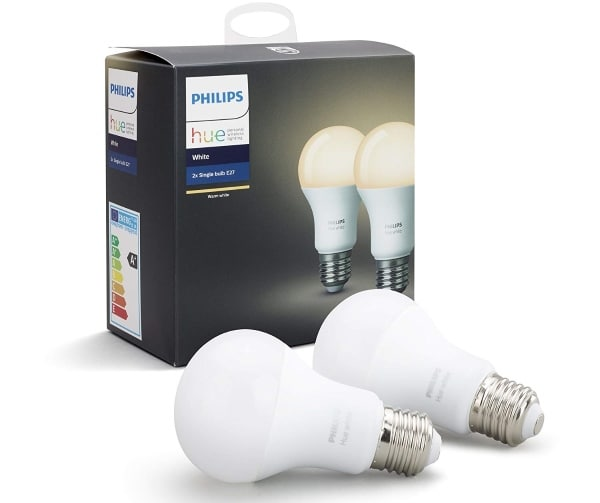 Lot de 2 ampoules Philips Hue blanches E27 à 23,99 € sur Amazon