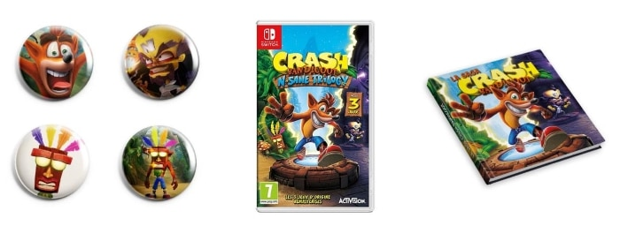 Crash Bandicoot N.Sane Trilogy (PS4 ou Xbox One) à 20,99 € + 4 badges et 1 artbook offerts sur la Fnac