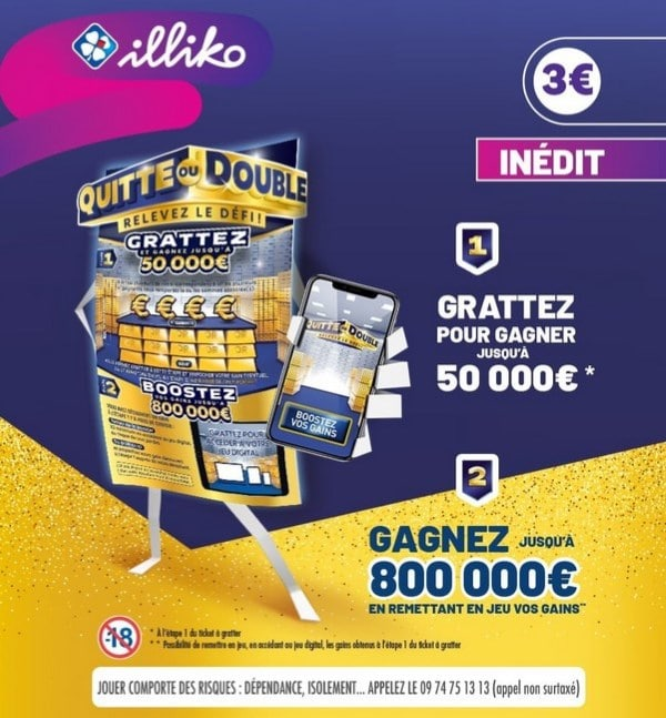 Ticket Illiko Quitte ou Double à 1 € avec l'application Shopmium