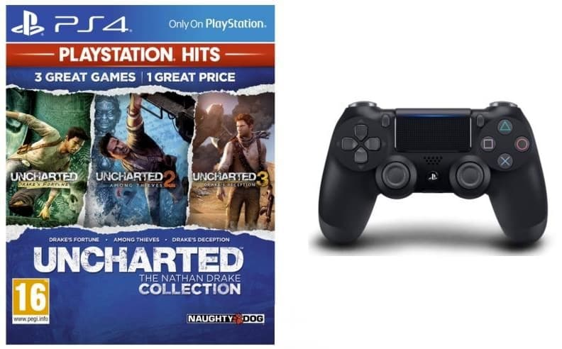 Pack Uncharted (The Nathan Drake Collection) + manette à 55,99 € sur Cdiscount