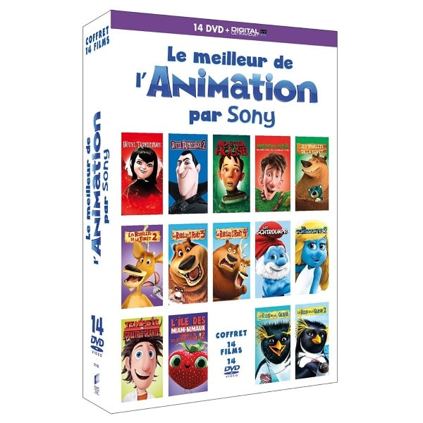 Coffret 14 DVD « Le meilleur de l'animation par Sony » à 8,99 € sur Amazon