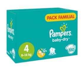 Pack familial de couches Pampers Baby Dry pas cher à Intermarché