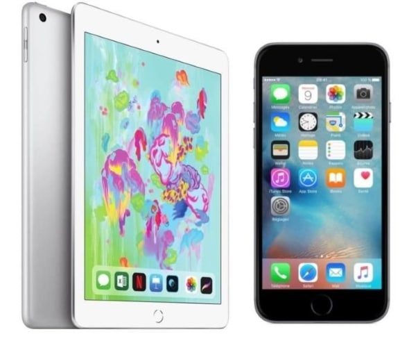 Pack iPad Retina 6e Generation 32 Go + iPhone 6S 32 Go à 499,99 € sur Cdiscount