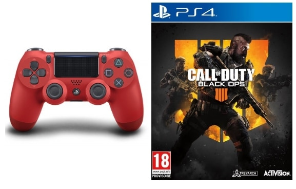 Manette de PS4 + jeu Call of Duty Black Ops IIII Specialiste Edition à 59,99 € chez Micromania