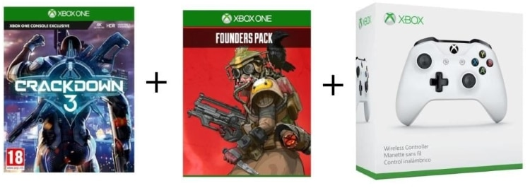Pack Xbox One CrackDown 3 + manette sans fil + Apex Legends Founders Pack à 49,99 € sur Cdiscount