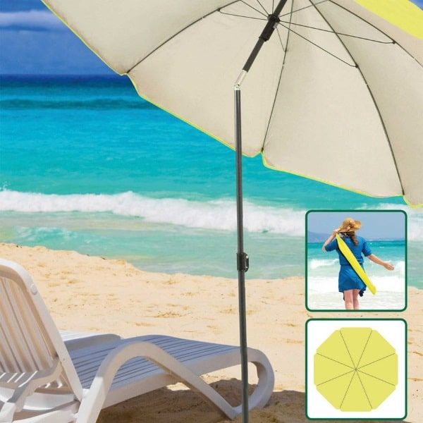 Parasol de plage inclinable + sac de transport à 9,99 € chez Aldi