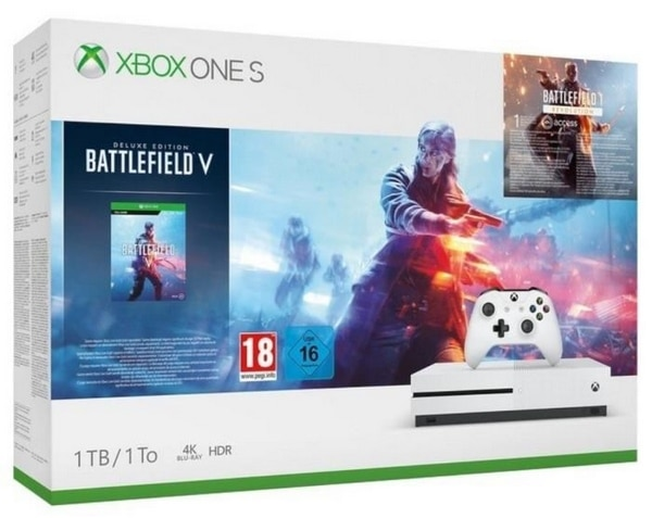 Pack Xbox One S 1 To Battlefield V à 199,99 € sur Cdiscount