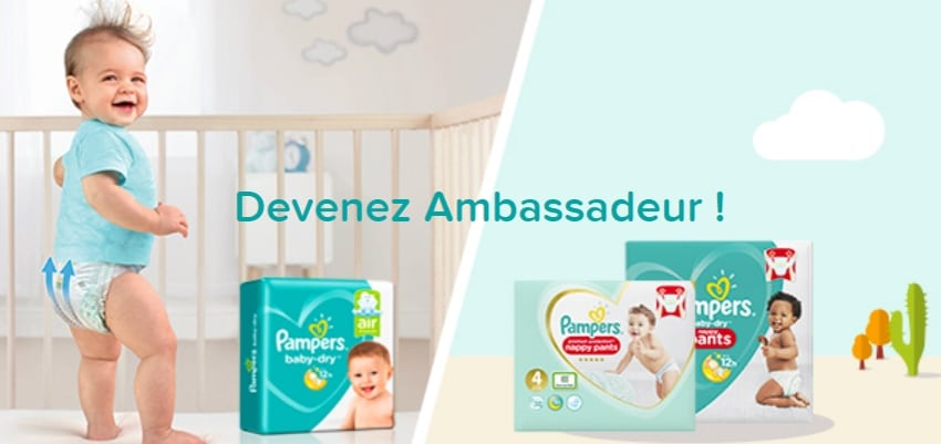 6 000 packs de Pampers Baby-Dry et Pampers Pant en test gratuit