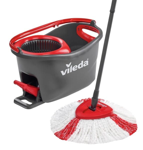 Kit Vileda Easy Wring & Clean Turbo (balai à frange + seau à pédale) à 24,90 € sur Amazon