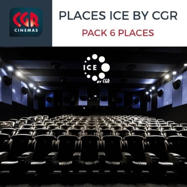 Pack de 6 places de cinéma ICE by CGR (immersion visuelle) à 42 € sur Cdiscount