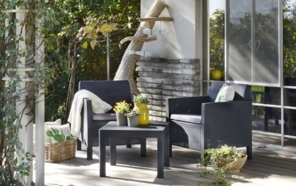 Cdiscount : salon de jardin 2 places Orlando Balcony à 71,99 €