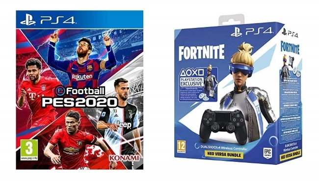 Pack eFootball PES 2020 + Manette pour PS4 + Code Fortnite (Digital) à 69,89 € sur Amazon