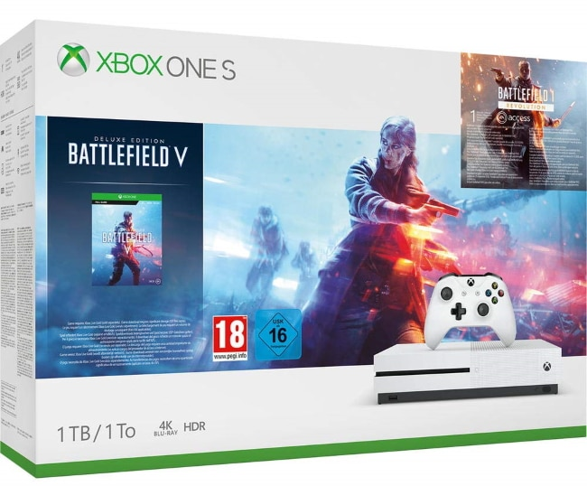 Pack console Xbox One S 1 To + jeu Battlefield V - Edition Deluxe à 199,99 € sur Amazon